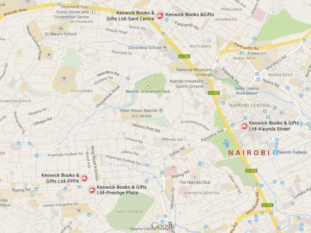 map keswick