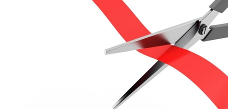 scissors cut the red ribbon