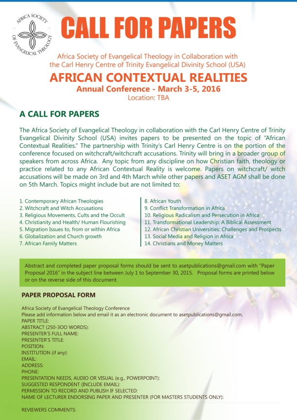 Call For Papers Aset Revised